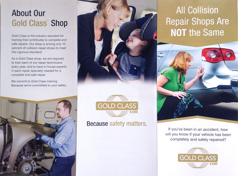 photo of Gold Class I-Car Brochure